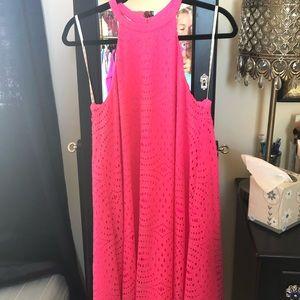 Pink Eyelet halter Lilly Pulitzer Dress